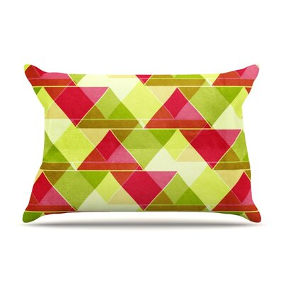 Palm Beach by Catherine McDonald Featherweight Pillow Sham Size: Queen, Fabric: Woven Polyester