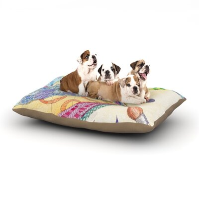 Catherine Holcombe The Painted Quilt Dog Pillow with Fleece Cozy Top Size: Small (40 W x 30 D x 8 H)