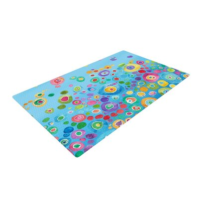 Catherine Holcombe Inner Circle Blue Area Rug Rug Size: 4 x 6