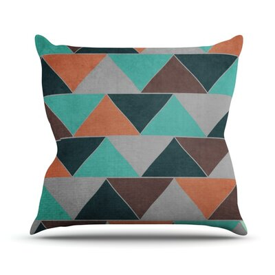 Southwest by Catherine McDonald Throw Pillow Size: 16'' H x 16'' W x 1