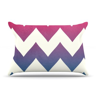 Fade to Blue by Catherine McDonald Featherweight Pillow Sham Size: Queen, Fabric: Woven Polyester