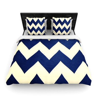 Catherine McDonald Woven Comforter Duvet Cover Size: King, Color: Fleet Week