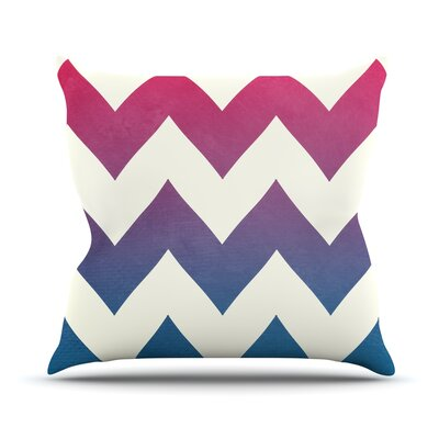 Fade to by Catherine McDonald Chevron Throw Pillow Size: 16 H x 16 W x 1 D