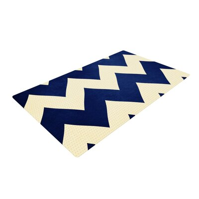 Catherine McDonald Fleet Week Blue/White Area Rug Rug Size: 4 x 6