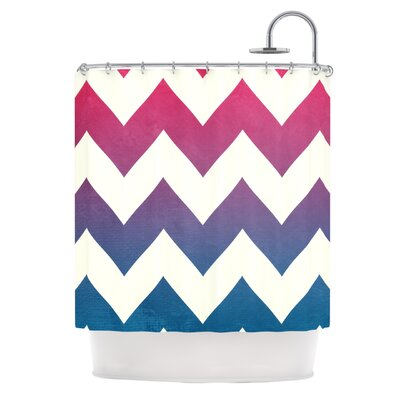 Catherine McDonald Fade to Chevron Shower Curtain