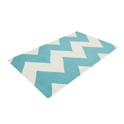 Catherine McDonald Salt Water Cure Blue/White Area Rug Rug Size: 4 x 6