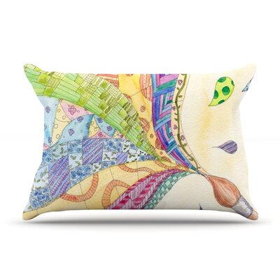 The Painted Quilt by Catherine Holcombe Featherweight Pillow Sham Size: King, Fabric: Woven Polyester