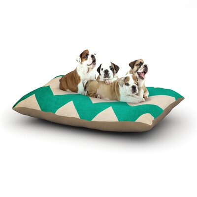 Catherine McDonald 2013 Chevron Dog Pillow with Fleece Cozy Top Size: Large (50 W x 40 D x 8 H)