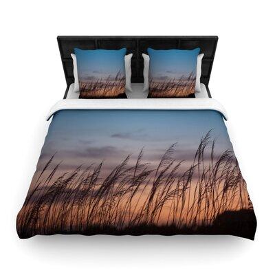 Sunset on the Beach Woven Comforter Duvet Cover Size: Full/Queen