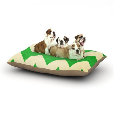 Catherine McDonald Granny Smith Chevron Dog Pillow with Fleece Cozy Top Size: Large (50 W x 40 D x 8 H)