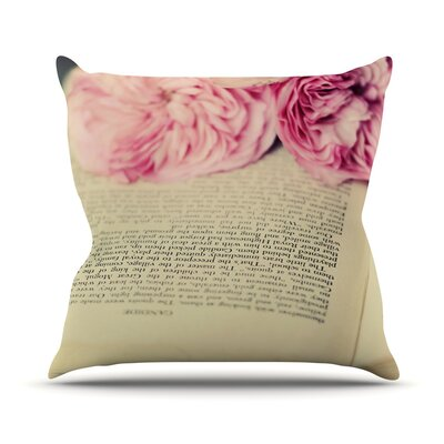 A Good Read by Cristina Mitchell Throw Pillow Size: 26 H x 26 W x 1 D