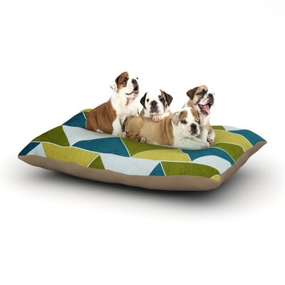 Catherine McDonald Mediterranean Dog Pillow with Fleece Cozy Top Size: Small (40 W x 30 D x 8 H)