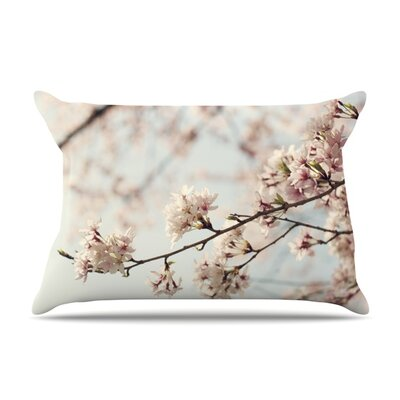 Japanese Cherry Blossom by Catherine McDonald Featherweight Pillow Sham Size: Queen, Fabric: Woven Polyester