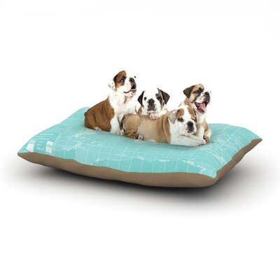 Catherine Holcombe Welcome to my World Dog Pillow with Fleece Cozy Top Size: Large (50 W x 40 D x 8 H)