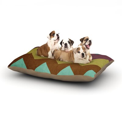 Catherine McDonald Mountain High Art Object Dog Pillow with Fleece Cozy Top Size: Large (50 W x 40 D x 8 H)