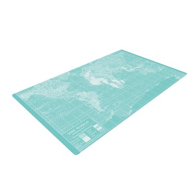 Catherine Holcombe Welcome to My World Blue Area Rug Rug Size: 4 x 6