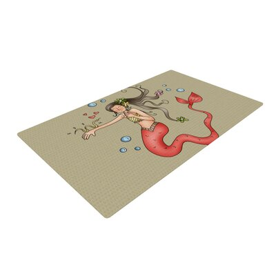 Carina Povarchik Mermaids Lovely Brown Area Rug Rug Size: 2 x 3