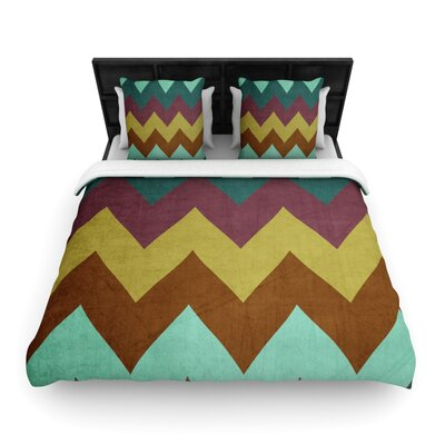 Catherine McDonald Woven Comforter Duvet Cover Size: King, Color: Mountain High