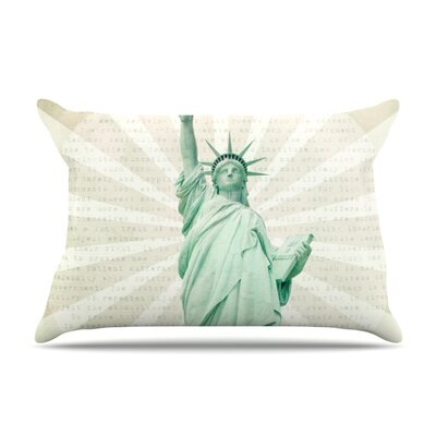 The Lady by Catherine McDonald Featherweight Pillow Sham Size: King, Fabric: Woven Polyester