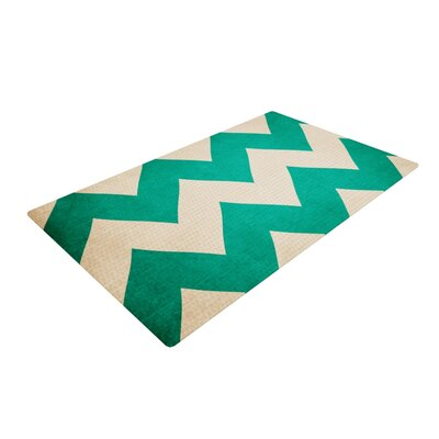 Catherine McDonald 2013 Chevron Teal Area Rug Rug Size: 2 x 3