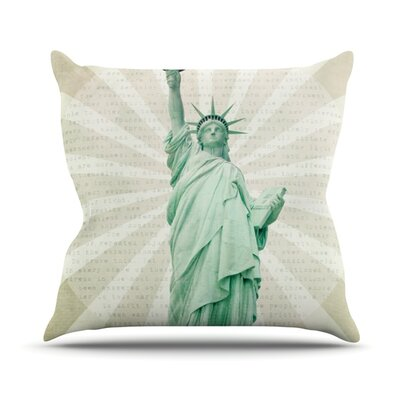 The Lady Statue of Liberty Throw Pillow Size: 16 H x 16 W x 1 D