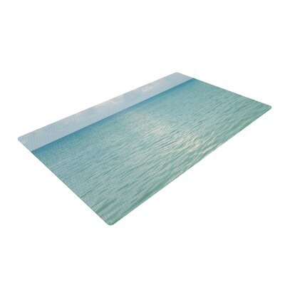 Catherine McDonald Cloud Reflection Blue Area Rug Rug Size: 4 x 6