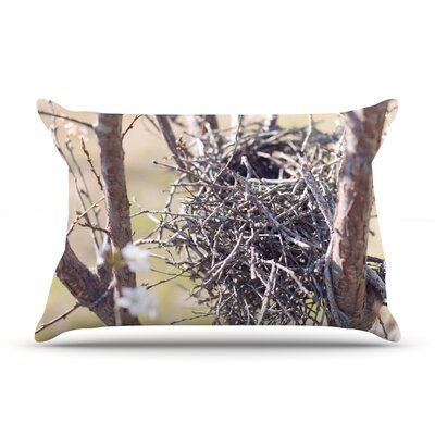 Nest by Catherine McDonald Featherweight Pillow Sham Size: Queen, Fabric: Woven Polyester