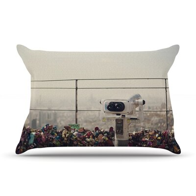 The View Seoul by Catherine McDonald Featherweight Pillow Sham Size: King, Fabric: Woven Polyester