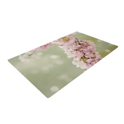 Catherine McDonald Cherry Blossom Green/Pink Area Rug