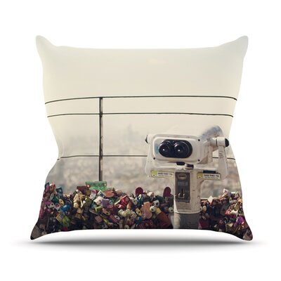 The View Seoul by Catherine McDonald Throw Pillow Size: 16 H x 16 W x 1 D