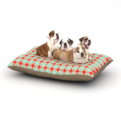 Catherine McDonald Retro Circles Dog Pillow with Fleece Cozy Top Size: Small (40 W x 30 D x 8 H)