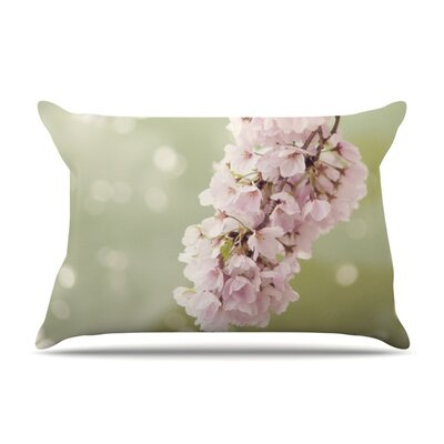 Cherry Blossom by Catherine McDonald Featherweight Pillow Sham Size: Queen, Fabric: Woven Polyester