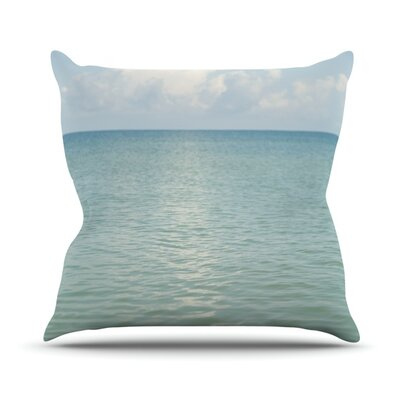 Cloud Reflection by Catherine McDonald Throw Pillow Size: 26 H x 26 W x 1 D