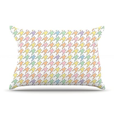 Empire Ruhl Pastel Houndstooth Pillow Case Color: Pastel