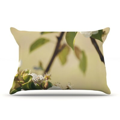 Pear Blossom by Catherine McDonald Featherweight Pillow Sham Size: Queen, Fabric: Woven Polyester
