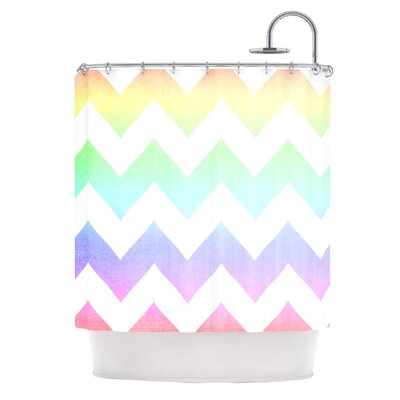 Catherine McDonald Watercolor Chevron Shower Curtain