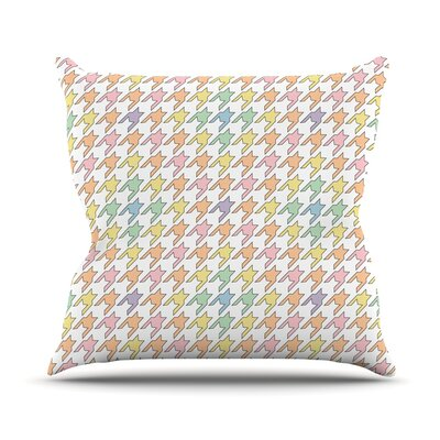 Pastel Houndstooth by Empire Ruhl Throw Pillow Size: 16 H x 16 W x 1 D
