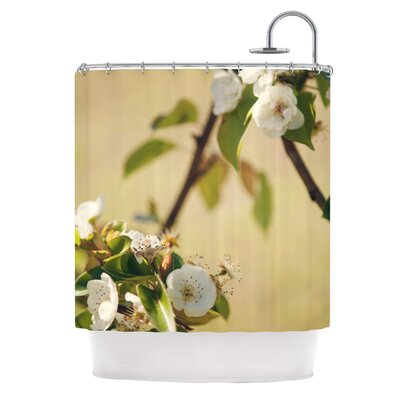 Catherine McDonald Pear Blossom Shower Curtain