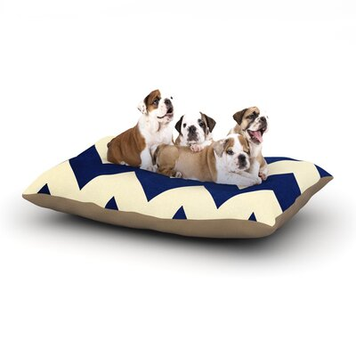 Catherine McDonald Fleet Week Dog Pillow with Fleece Cozy Top Size: Small (40 W x 30 D x 8 H)