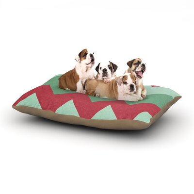 Catherine McDonald Holiday Chevrons Dog Pillow with Fleece Cozy Top Size: Large (50 W x 40 D x 8 H)