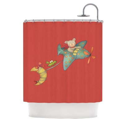 Carina Povarchik I will Bring You the Moon Bear Shower Curtain