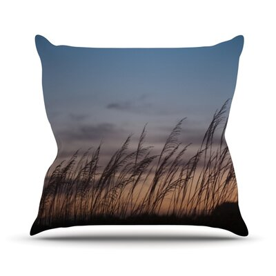 Sunset on the Beach by Catherine McDonald Throw Pillow Size: 18 H x 18 W x 1 D
