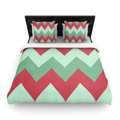 Catherine McDonald Woven Comforter Duvet Cover Size: King, Color: Holiday Chevrons
