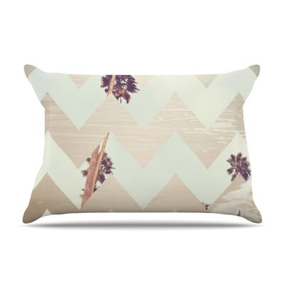 Oasis by Catherine McDonald Featherweight Pillow Sham Size: Queen, Fabric: Woven Polyester