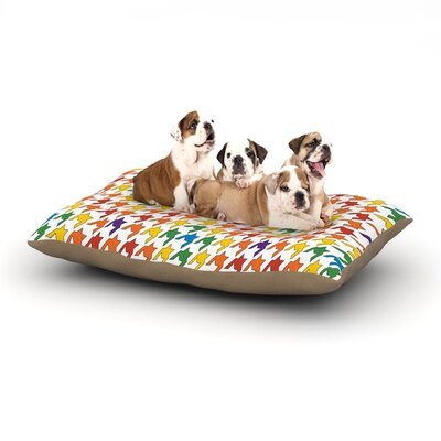 Empire Ruhl Houndstooth Dog Pillow with Fleece Cozy Top Size: Large (50 W x 40 D x 8 H), Color: Multi