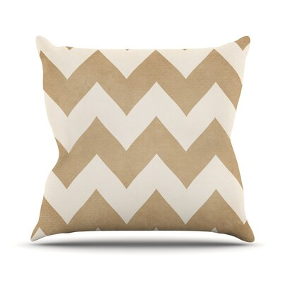 Biscotti and Cream by Catherine McDonald Chevron Throw Pillow Size: 18 H x 18 W x 1 D