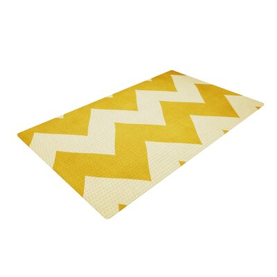 Catherine McDonald 1932 Yellow/White Area Rug Rug Size: 2 x 3