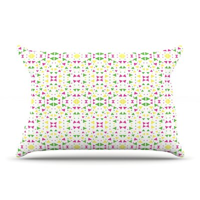 Neon Triangles by Empire Ruhl Featherweight Pillow Sham Size: Queen, Fabric: Woven Polyester