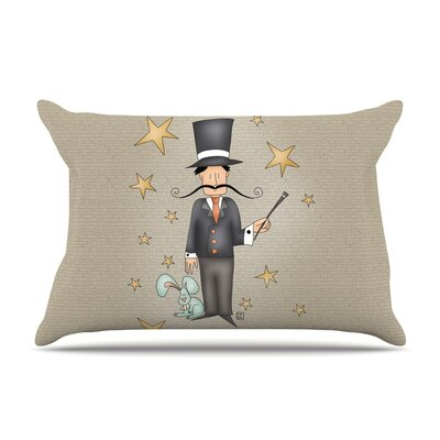 Circus Magician by Carina Povarchik Featherweight Pillow Sham Size: King, Fabric: Woven Polyester