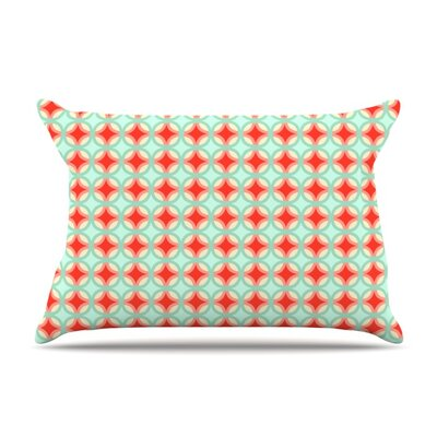 Retro Circles by Catherine McDonald Featherweight Pillow Sham Size: Queen, Fabric: Woven Polyester